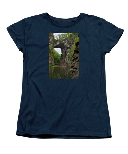 Natural Bridge Women's T-Shirt (Standard Cut) by Lawrence Boothby