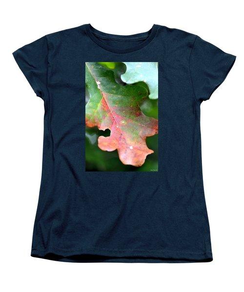 Natural Oak Leaf Abstract Women's T-Shirt (Standard Cut) by Maria Urso
