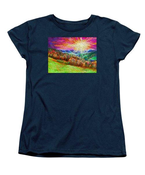 Nature 1  25 2015 Women's T-Shirt (Standard Cut) by Hidden  Mountain