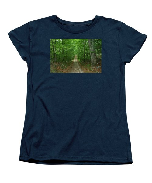Nature's Way At James L. Goodwin State Forest  Women's T-Shirt (Standard Cut) by Neal Eslinger