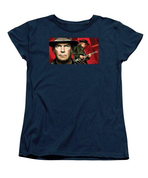 Neil Young Artwork Women's T-Shirt (Standard Cut) by Sheraz A