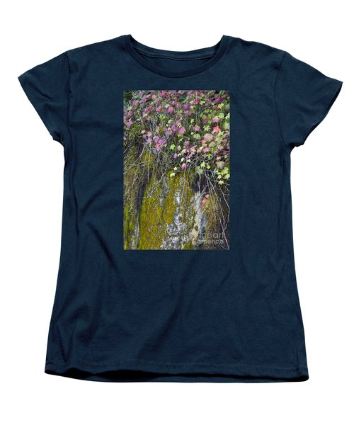 Neon Leaves No 2 Women's T-Shirt (Standard Cut) by Alycia Christine