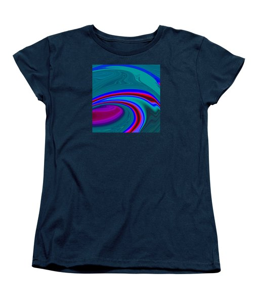 Women's T-Shirt (Standard Cut) featuring the painting Neon Wave C2014 by Paul Ashby