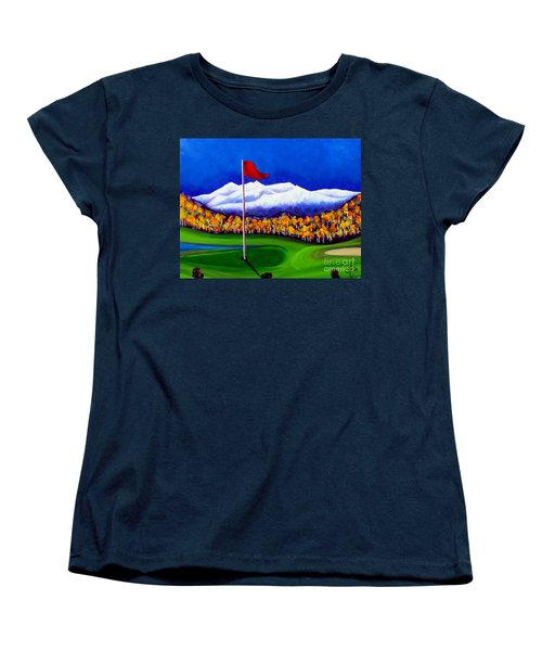 Women's T-Shirt (Standard Cut) featuring the painting Never Enough by Jackie Carpenter