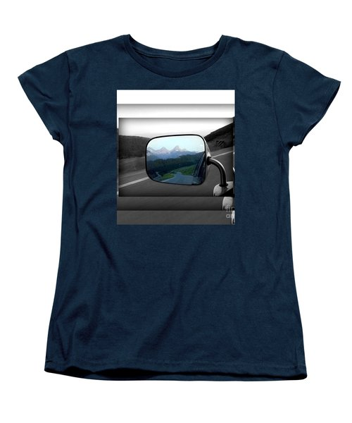 Women's T-Shirt (Standard Cut) featuring the photograph Looking Back by Janice Westerberg
