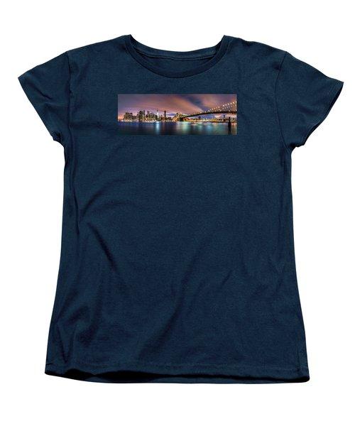 New Dawn Over New York Women's T-Shirt (Standard Cut) by Mihai Andritoiu