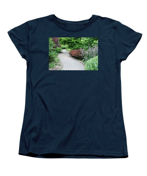 Women's T-Shirt (Standard Cut) featuring the photograph Frelinghuysen Arboretum Path by Richard Bryce and Family