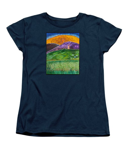Women's T-Shirt (Standard Cut) featuring the painting New Jerusalem by Cassie Sears