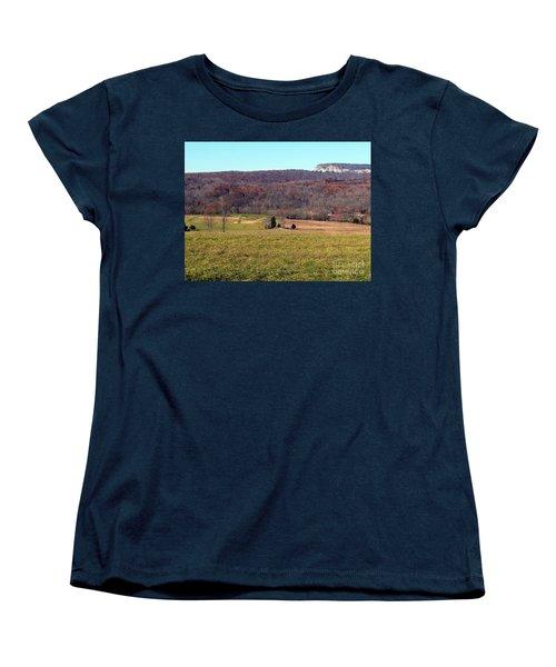 New Paltz Beauty Women's T-Shirt (Standard Cut) by Ed Weidman