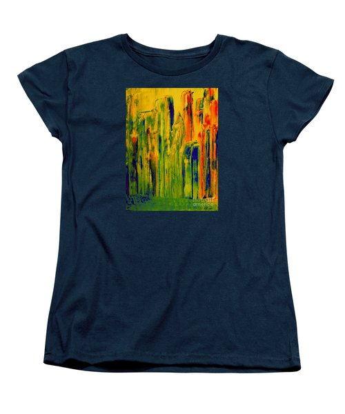 Women's T-Shirt (Standard Cut) featuring the painting New York On A Hot June Morning by Bill OConnor