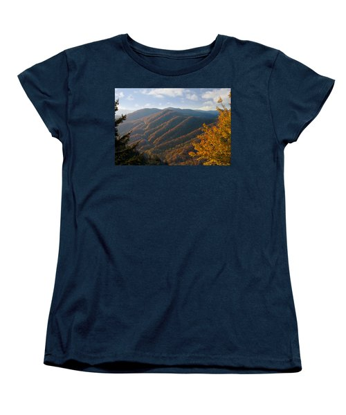 Newfound Gap Women's T-Shirt (Standard Cut) by Melinda Fawver
