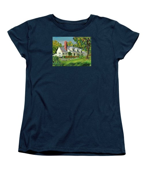 Women's T-Shirt (Standard Cut) featuring the painting Next To The Wooden Duck Inn by Michael Daniels
