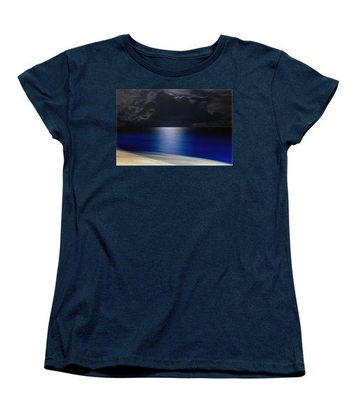 Night And Water Women's T-Shirt (Standard Cut) by Hanny Heim
