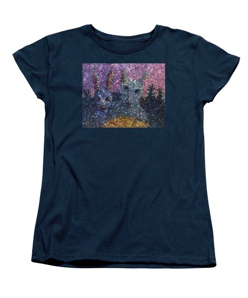 Women's T-Shirt (Standard Cut) featuring the painting Night Offering by James W Johnson