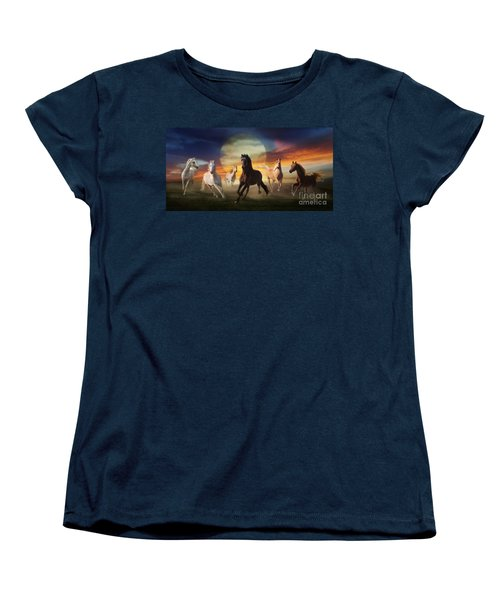 Night Play Women's T-Shirt (Standard Cut) by Melinda Hughes-Berland