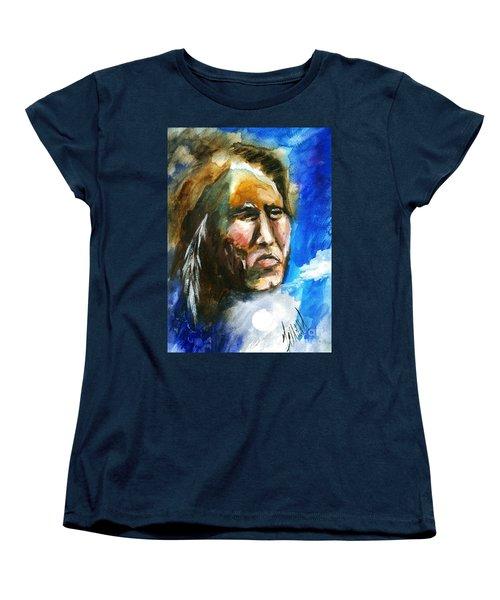 Women's T-Shirt (Standard Cut) featuring the painting Night Spirit by Karen  Ferrand Carroll