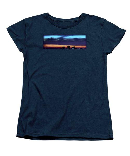 Women's T-Shirt (Standard Cut) featuring the photograph Nightfall Over Pensacola Beach by Faith Williams