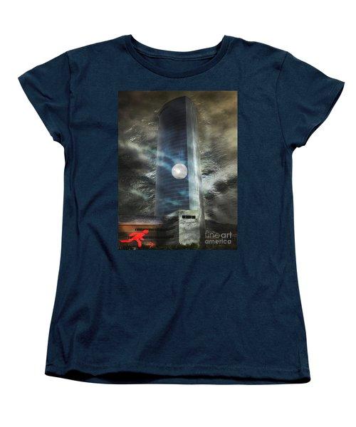 Women's T-Shirt (Standard Cut) featuring the digital art Nightmare Tower by Rosa Cobos