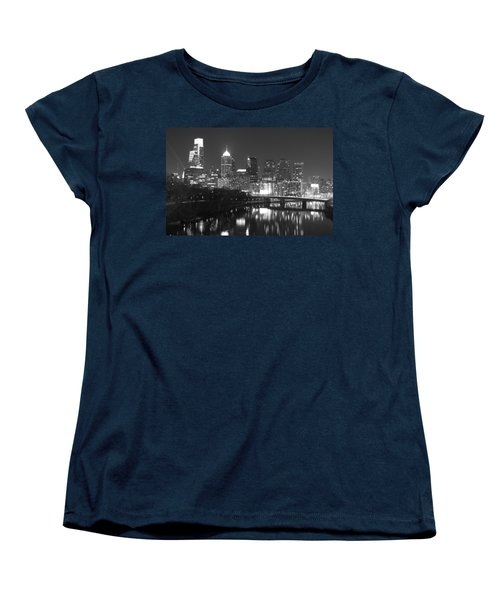 Women's T-Shirt (Standard Cut) featuring the photograph Nighttime In Philadelphia by Alice Gipson
