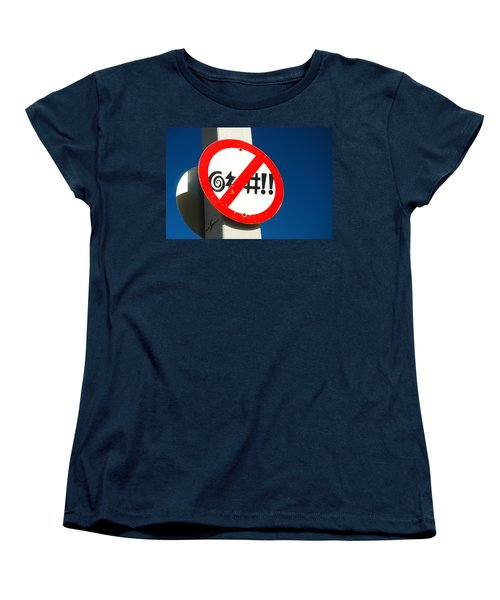 Women's T-Shirt (Standard Cut) featuring the photograph No Cursing Here by James Kirkikis