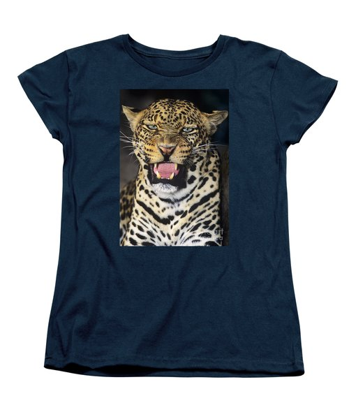 No Solicitors African Leopard Endangered Species Wildlife Rescue Women's T-Shirt (Standard Cut) by Dave Welling