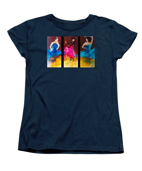 Women's T-Shirt (Standard Cut) featuring the painting No Volre  Triptych by Keith Thue
