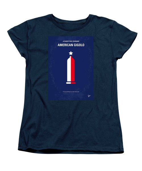 No150 My American Gigolo Minimal Movie Poster Women's T-Shirt (Standard Cut) by Chungkong Art