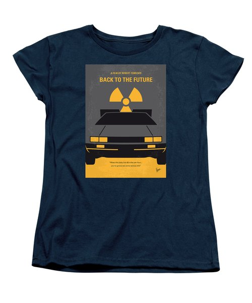 No183 My Back To The Future Minimal Movie Poster Women's T-Shirt (Standard Cut) by Chungkong Art