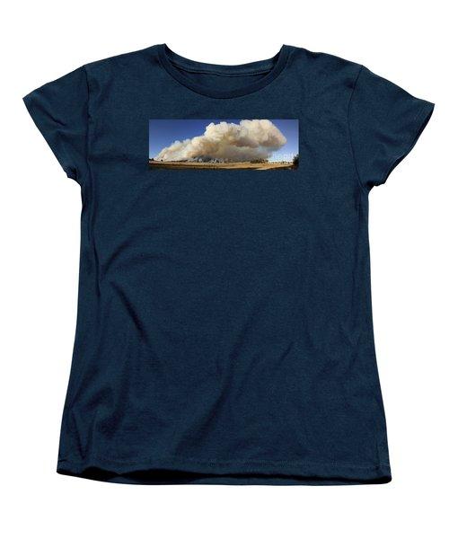 Norbeck Prescribed Fire Smoke Column Women's T-Shirt (Standard Cut) by Bill Gabbert