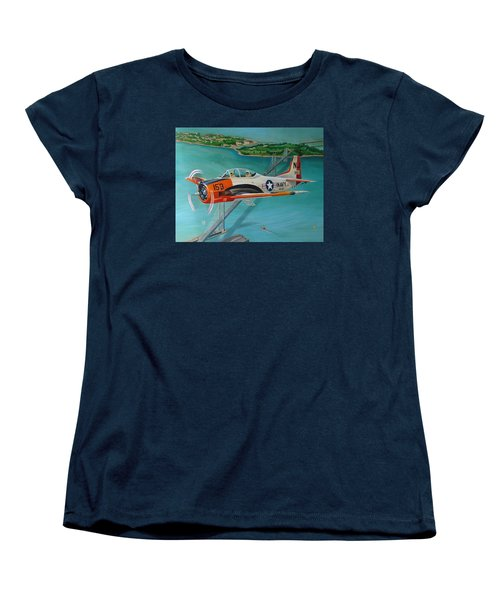 North American T-28 Trainer Women's T-Shirt (Standard Cut) by Stuart Swartz