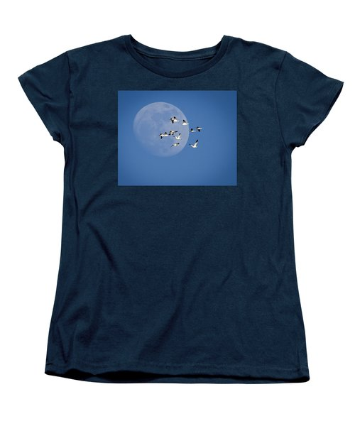 Women's T-Shirt (Standard Cut) featuring the photograph North Bound by Jack Bell