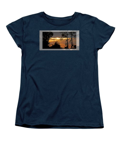 North Carolina Sunset Women's T-Shirt (Standard Cut) by Walter Herrit