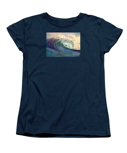Women's T-Shirt (Standard Cut) featuring the painting North Whore Wave by Jenny Lee