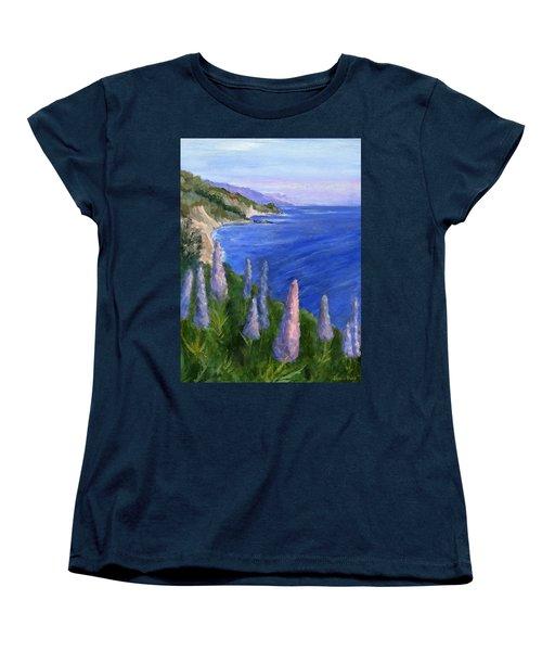 Northern California Cliffs Women's T-Shirt (Standard Cut) by Jamie Frier