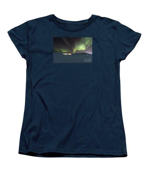 Northern Lights Iceland Women's T-Shirt (Standard Cut) by Gunnar Orn Arnason