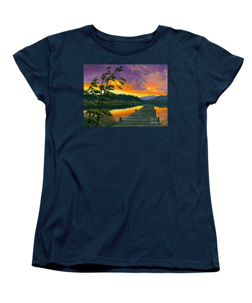 After Glow - Oil / Canvas Women's T-Shirt (Standard Cut) by Michael Swanson