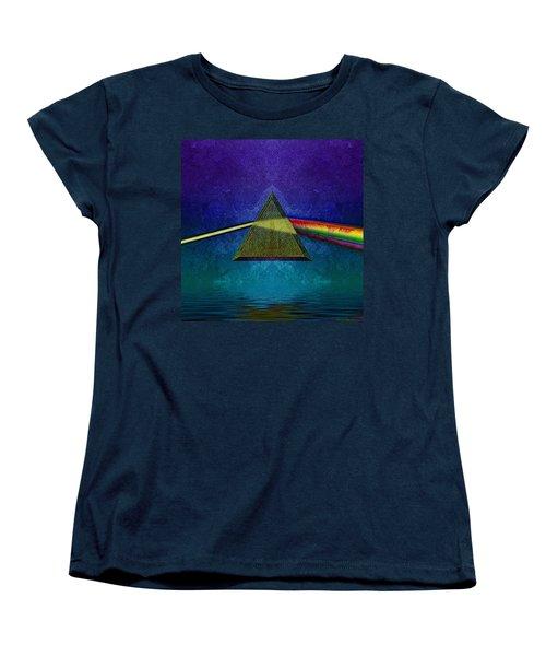 Women's T-Shirt (Standard Cut) featuring the digital art Not So Dark Side 2 by WB Johnston