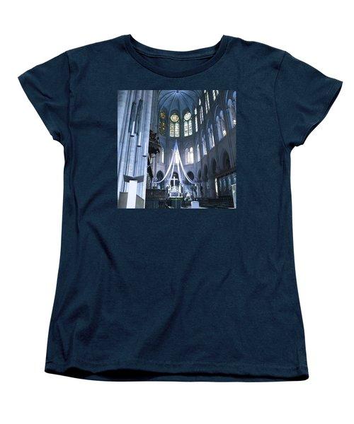 Notre Dame Altar Teal Paris France Women's T-Shirt (Standard Cut) by Evie Carrier