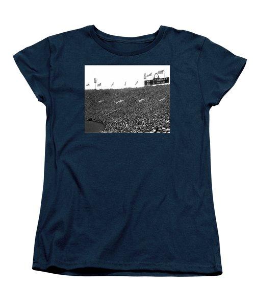 Notre Dame-usc Scoreboard Women's T-Shirt (Standard Cut) by Underwood Archives