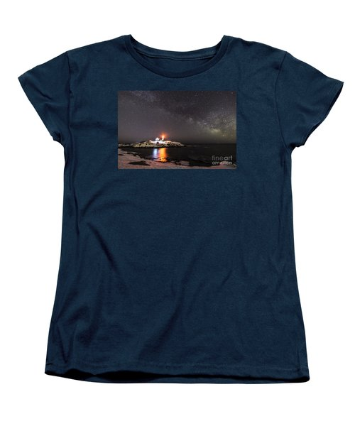 Nubble Light With Milky Way Women's T-Shirt (Standard Cut) by Patrick Fennell