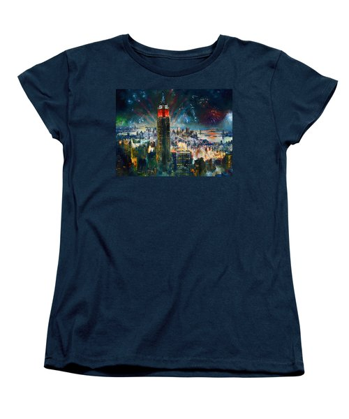 Nyc In Fourth Of July Independence Day Women's T-Shirt (Standard Cut) by Ylli Haruni