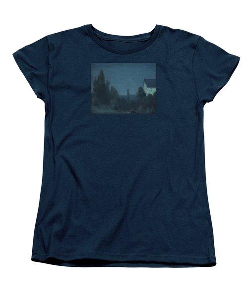 Starry Night  Women's T-Shirt (Standard Cut) by Gustave Wiegand