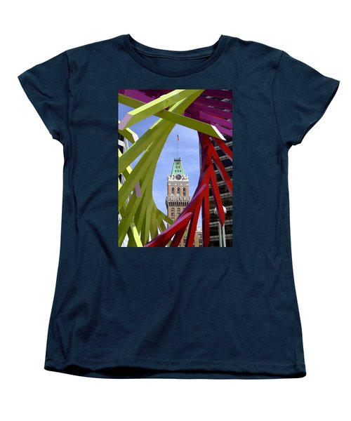 Oakland Tribune Women's T-Shirt (Standard Cut) by Donna Blackhall