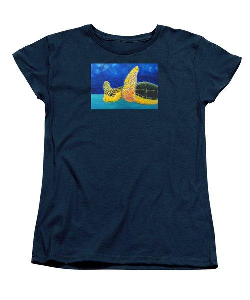 Obx Turtle Women's T-Shirt (Standard Cut) by Anne Marie Brown
