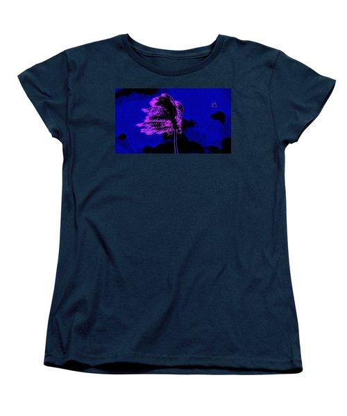 Women's T-Shirt (Standard Cut) featuring the painting Ocean Art 111 by David Mckinney