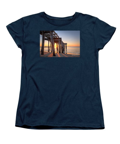 Ocean Grove Pier Sunrise Women's T-Shirt (Standard Cut)