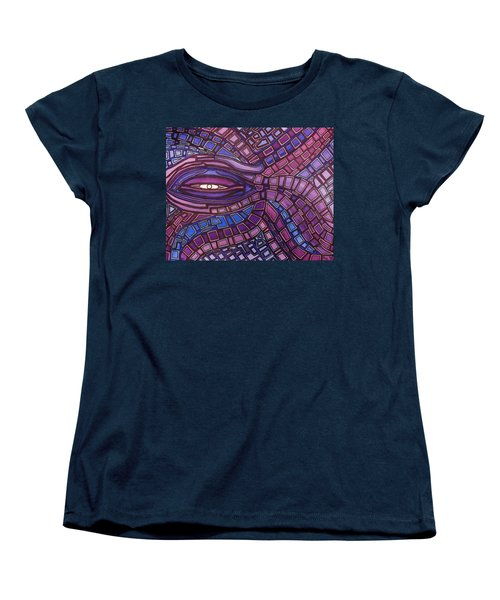 Women's T-Shirt (Standard Cut) featuring the painting Octopus Eye by Barbara St Jean