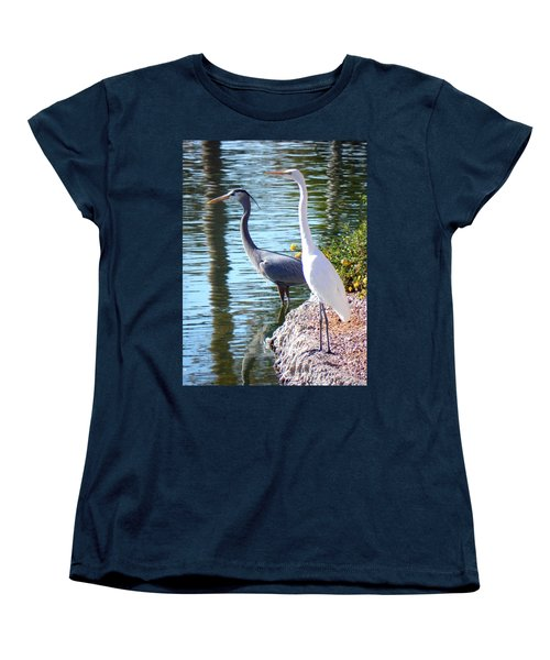 Women's T-Shirt (Standard Cut) featuring the photograph Odd Couple by Deb Halloran