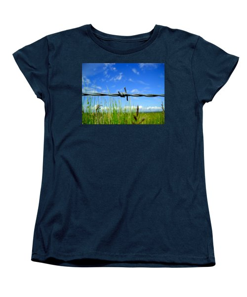 Women's T-Shirt (Standard Cut) featuring the photograph Off Limits by Nina Ficur Feenan