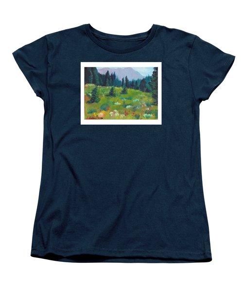 Off The Trail Women's T-Shirt (Standard Cut) by C Sitton